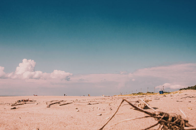 Miles Away Outdoors Nature Sand Landscape Large Group Of People Beach Day Sky