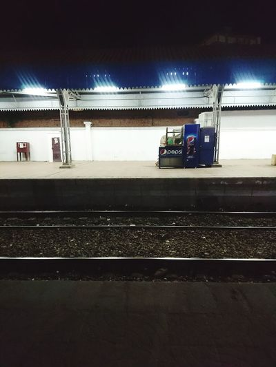 Night Outdoors EyeEmNewHere EyeEm Travel Train Train Station Transportation Train Tracks Travel Destinations Travel Photography Traveller Night Photography Night Train Illuminated People Sky Adult Ice Hockey Adults Only Pepsi No People