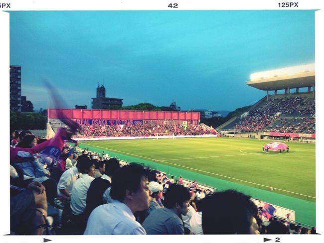 スタジアムで観戦なんて、いつ以来だ?キンチョウスタジアム自体は初めてです( ´ ▽ ` )ノ Soccer Watching Football Love Sports