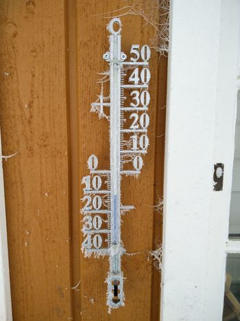 Frozen Temprature Thermometer Spiderweb Norway