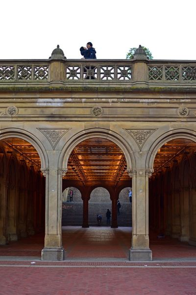 Arch Architecture Travel Destinations History Built Structure Outdoors Triumphal Arch Full Length Day Building Exterior Politics And Government King - Royal Person Sky Adults Only People Adult Bethesda Terrace Bethesda Arcade Central Park CentralPark Central Park - NYC Couple - Relationship Couple Hugging Hug