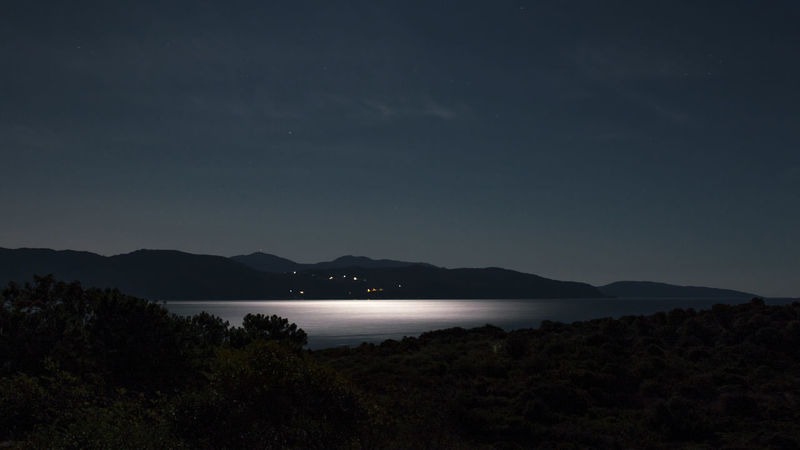 Night shot moonlight on the sea Calmness EyeEm Ready   Night Shot Nightphotography Beauty In Nature Corsica Landscape Moonlight Moonlight On The Sea Moonshine Mountain Nature Night View No People Outdoors Reflections In The Water Relaxing Moments Sagone Bay Scenics Sea Sky Stars Tranquil Scene Tranquility Water