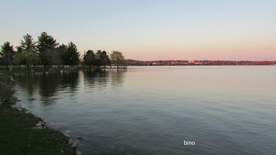 Evening Walk Around The Lake At Dusk Pretty Pink Sky No People Quality Time Lake Cadillac Pure Michigan