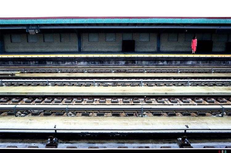 Eve Transportation Railroad Station Public Transportation Railroad Track Railroad Station Platform Rail Transportation Architecture Travel Built Structure High Angle View Mode Of Transport Transportation Building - Type Of Building Day Station Outdoors Architectural Column Public Transport Platform Railway Station Platform NYC Street Photography EyeEm Best Shots This Week On Eyeem New York City Shootermag