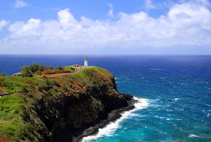 Kilauea lighthouse Hawaii Panorama Beauty In Nature Cliff Kilauea Kilauea Lighthouse Lighthouse Rock - Object Scenics Tranquil Scene Travel Destinations
