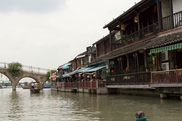 They say it was like Venice… Architecture Bridge - Man Made Structure Building Building Exterior Built Structure Canal Chinese Culture Cloud Day Nature Outdoors Residential Structure Rippled River Sky Tourism Travel Destinations Water Waterfront
