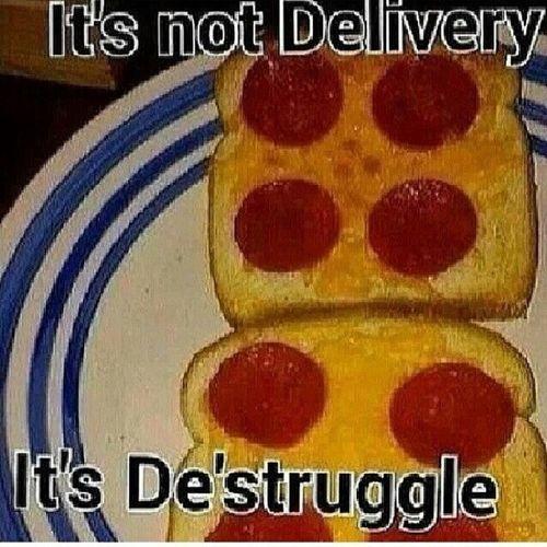 lmao...damn shame Thestruggle  Thestruggleis real Pizza Bread pepperoni ghetto lmfao kmsl tagfortags like4likes instahysterical