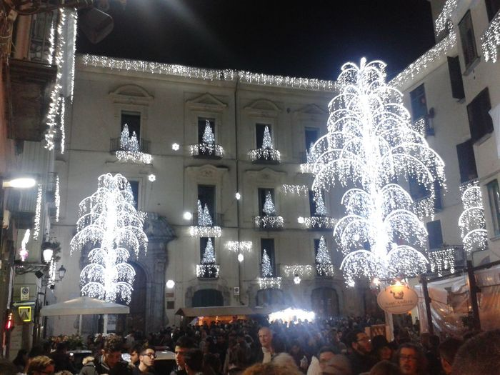Lights Square Ligth Tree Urban Exploration The Culture Of The Holidays Salerno Italy