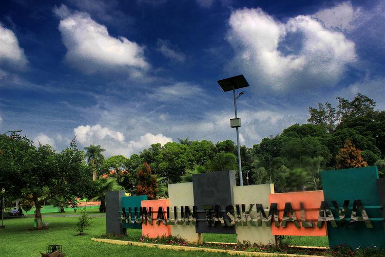 Alun-alun Tasikmalaya Cloud - Sky Day Grass Growth Nature No People Outdoors Sky Tree
