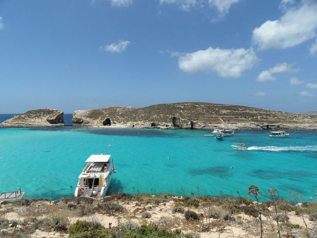 Beautiful Malta ☀ Architecture Beach Beach Hut Beauty In Nature Blue Day Malta Nature No People Outdoors Sand Scenics Sea Ships Sky Tranquil Scene Tranquility Travel Destinations Dream Destinations Relaxing Time Laguna Holidayfeeling Relaxing View Gozo Island Mediterran