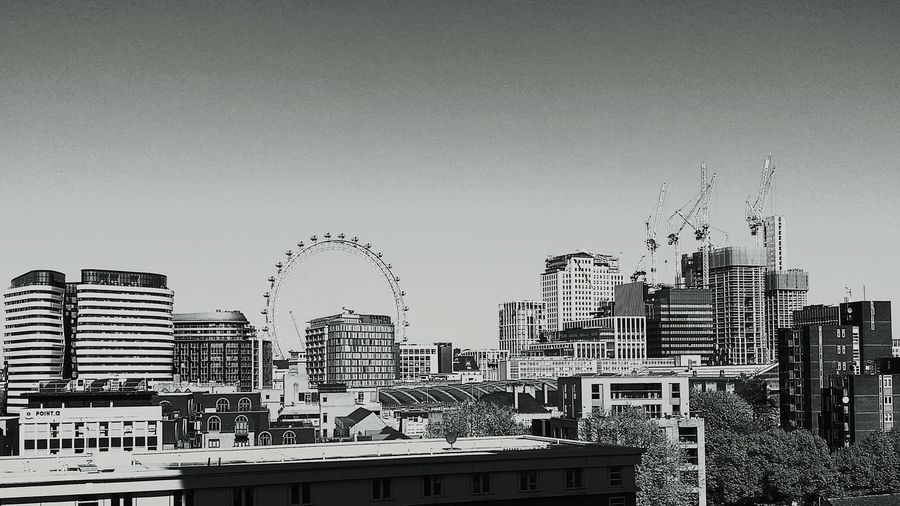 London Eye and Waterloo Station London Eye London Blackandwhite EyeEm London EyeEm Best Shots - Black + White EyeEmNewHere Urban Skyline United Kingdom Urban Geometry Cranes cityscapes South Bank London Photography Crane - Construction Machinery Construction City Alwayne Ritchie Technology Sky Architecture Skyscraper Skyline Cityscape Urban Scene Tower Residential District High Rise Tall - High Downtown Tall