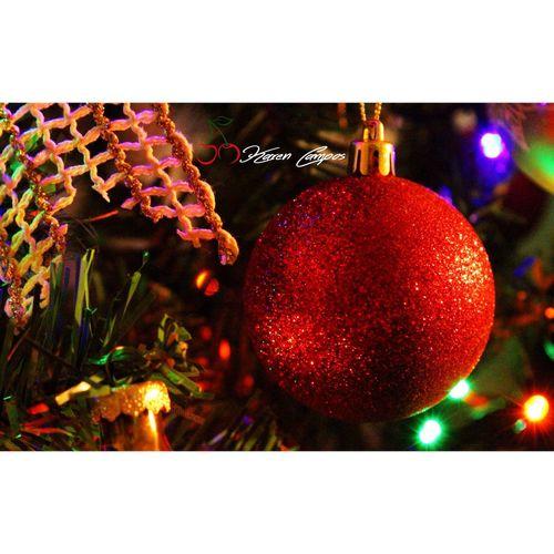 El brillo de la Navidad🎄 Esfera Navidad Rojacomounacereza árboldenavidad Fotografia Karencampos EyeEm