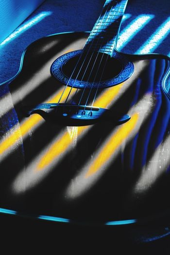 Life would be pretty miserable without my guitars 🎸 Photoshop Acoustic Electric Guitar No People Indoors  Blue Close-up Still Life Full Frame High Angle View Backgrounds Creativity Shadow Pattern Design Acoustic Electric Guitar No People Indoors  Blue Close-up Still Life Full Frame High Angle View Backgrounds Creativity Shadow Pattern Design