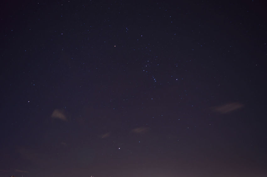 The night sky with the Orion Astronomy Beauty In Nature Night No People Orion Sky Star - Space Star Field Starry