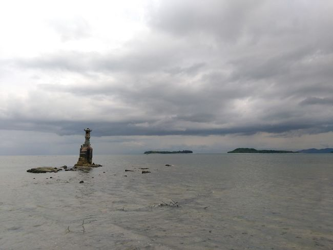 Sea Tranquility Beach Abandoned Lighthouse No People History Landscape Day Outdoors Horizon Over Water Nautical Vessel Sky Water Architecture Nature No Effects No Filter Perspectives On Nature Wonderful Indonesia INDONESIA Travel Destinations Beauty In Nature Cloudscape Dramatic Sky