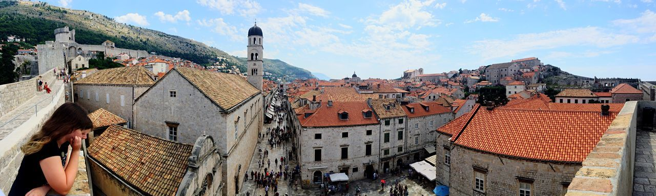 EyeEm Selects I loved Dubrovnik so much!! I hope I get to go back one day!! Architecture Building Exterior Built Structure Cloud - Sky Day Sky Outdoors People One Person One Woman Only Woman City Town Panorama Sommergefühle EyeEm Selects EyeEmNewHere