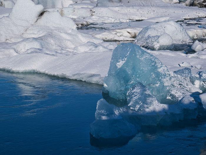 The glacier ice