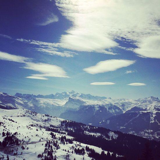 Les Gets Neige Ciel Soleil Montagne Ski Le Mont Blanc