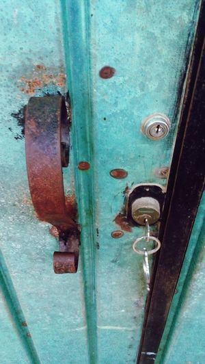 Door Full Frame Close-up Closed Door Handle Backgrounds Protection Metal No People Safety Day Outdoors Latch