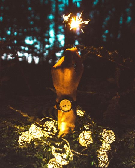 Night Illuminated No People Tree Outdoors Close-up Watch Watch The Clock Danielwellington Lights Light In The Darkness Light And Shadows Light And Shadow Light