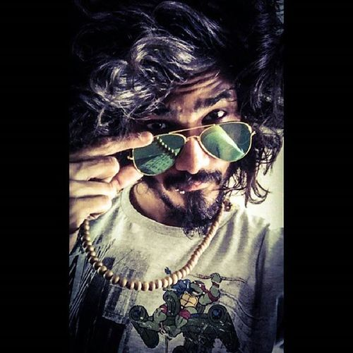 I love my hair👦 Longhair Beard Mala Marquryglasses Atstudio Selfie Peace ✌