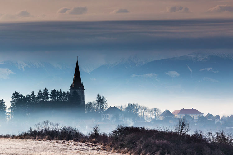 Sunrise Relaxing Enjoying Life Sky_collection Nature Photography Landscape_photography Landscape_Collection Mountains Church Outdoors Sky And Clouds Cincu, România Showcase: February