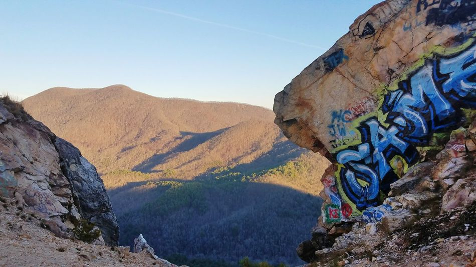 Mountain Landscape Clear Sky Nature Grafitti Graffiti Art