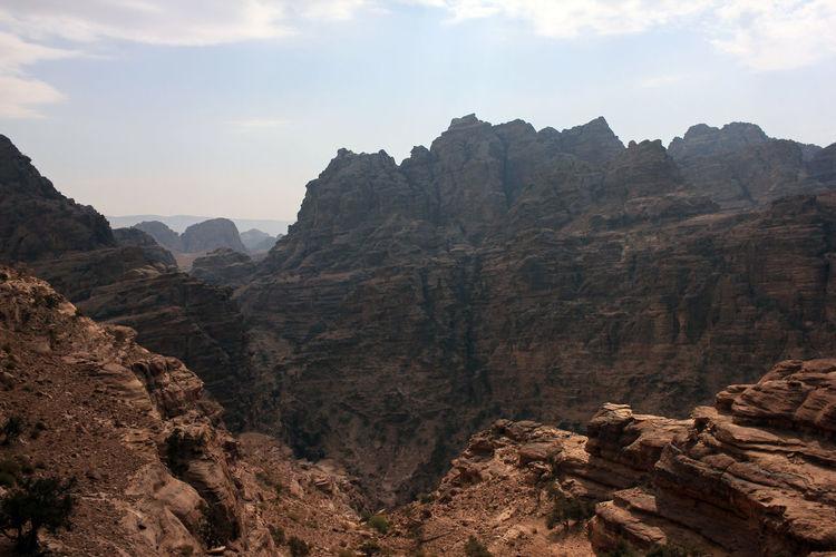 The rugged landscape at petra, jordan