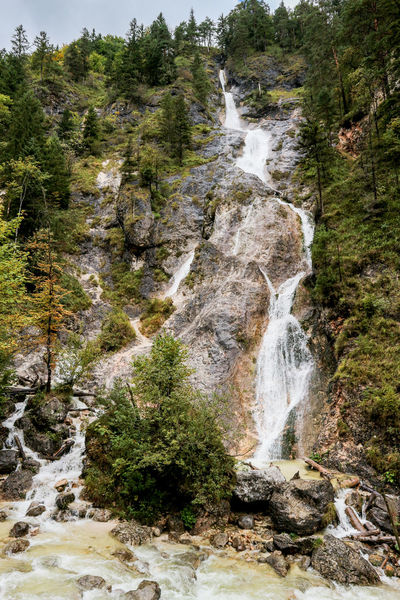 Water Nature Green Color Beauty In Nature Growth Tree Plant Tranquility Nationalpark Berchtesgaden Berchtesgaden Almbachklamm Klamm Herbst Nature Photography Autumn Bavaria Green Color Bayern Tranquil Scene Mountain Waterfall Flowing Water Power In Nature Rocks Water And Rocks