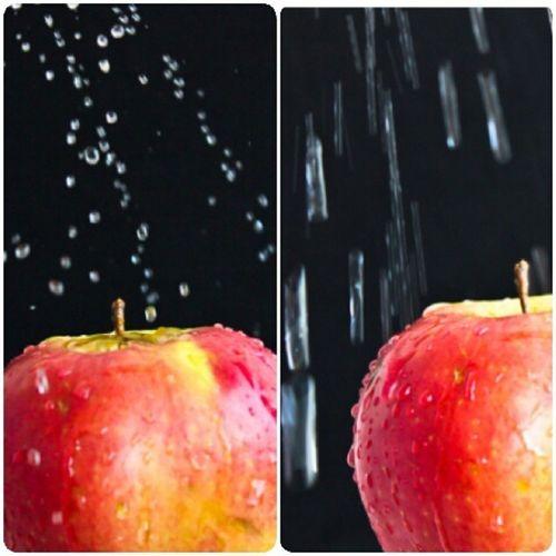 Linecamera яблоко вода капли красиво черныйфон фрукт nature water Apple pic photo photooftheday canon college