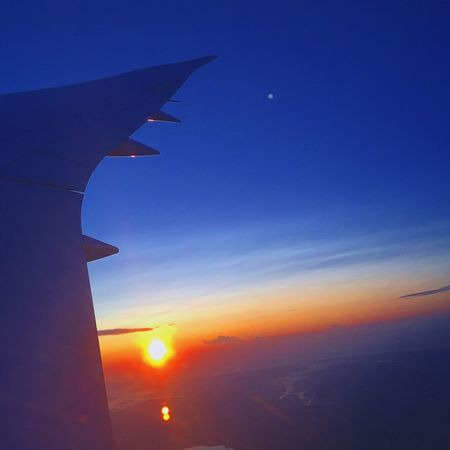 Sunset Sun Sky Airplane Beauty In Nature Airplane Wing EyeEm Best Shots Eye4photography  Morning Light Morning Sky Flying Nature_collection Sunlight Sunrise_sunsets_aroundworld PhonePhotography London
