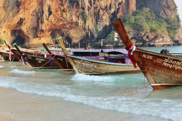 Spotted In Thailand Beach Long Tail Boat Railay Beach The KIOMI Collection Blue Wave Showcase April The Great Outdoors - 2017 EyeEm Awards