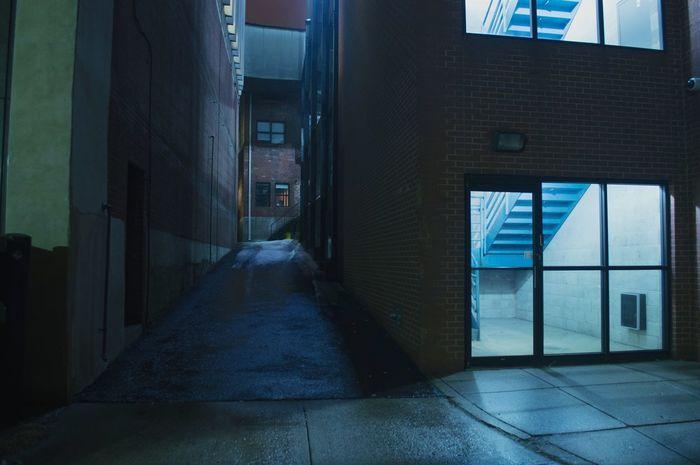 Midnight Blues. Color City Lights Nightphotography