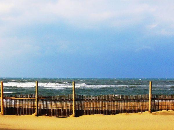 Nihonkai Niigata Sunny Day Beach Blue Sky Sea And Sky Hello World EyeEm Nature Lover Overthefence Fence Sand & Sea Sand
