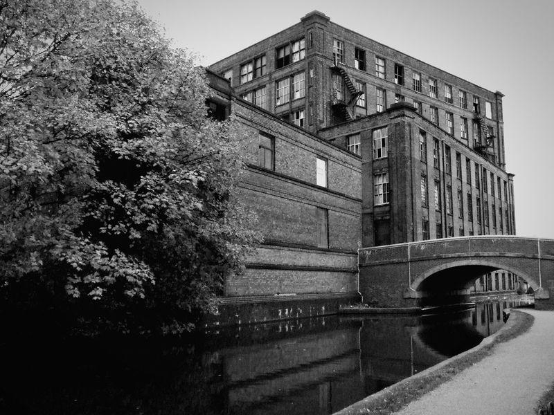 Industrial Architecture Industrial Landscapes Derelict Building Canal Bridge Reflections