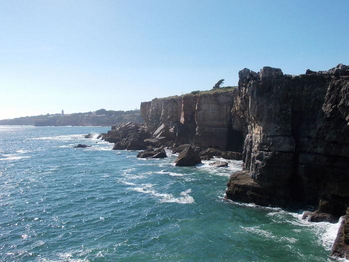 Beautiful Cabo Da Inferno Portugal Power In Nature Rocks Seeside