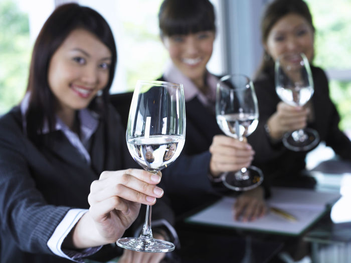 group of businesswomen holding wineglass Business Confidence  Office Refreshment Suit Teamwork Working Businesswear Businesswomen Colleague Conference Corporate Business Drinking Glass Focus On Foreground Group Of People Looking At Camera Occupation Office Building Real People Restaurant Smiling Table Togetherness Wineglass Women