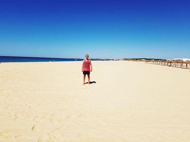 Hope I can find a quiet spot on the beach 😂 Clear Sky Full Length Beach Desert Sand Blue Arid Climate Summer Shore Horizon Over Water Ocean Seascape Coast Wave Calm