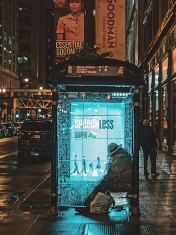 Speechless Chicago The Street Photographer - 2017 EyeEm Awards Rain Cinematic Colors Nightphotography EyeEm Best Shots