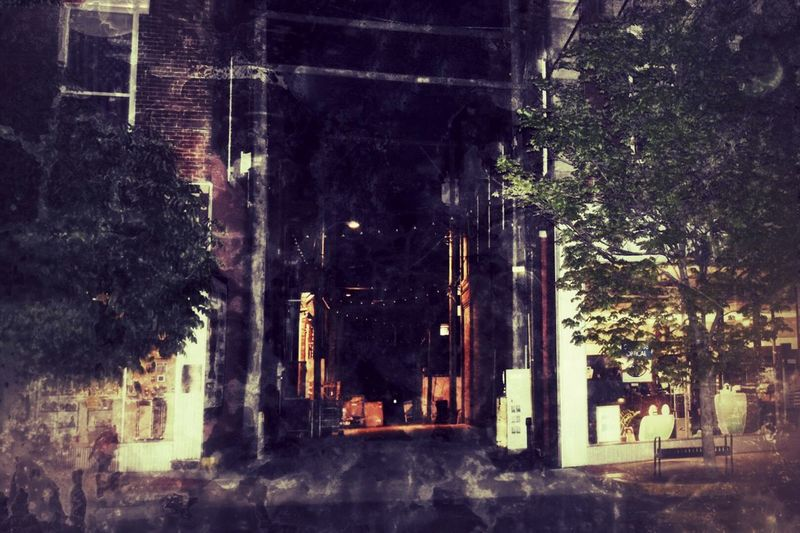 Night Architecture Built Structure Outdoors Building Exterior Tree No People City Brick Dark Darkness Rogers Rogers Arkansas Arkansas Alley