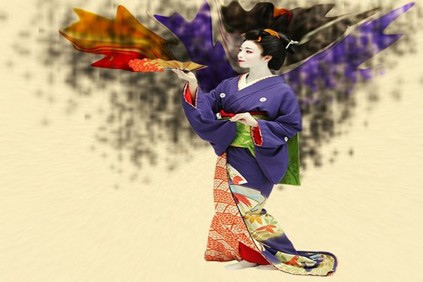 Graphic Designing Japanese Geisha Doll High Designing And No Fillters Manual Art Multi Colored Hobbies Full Length Leisure Activity NO PHOTOGRAPHY ONLY PHOTOSHOP