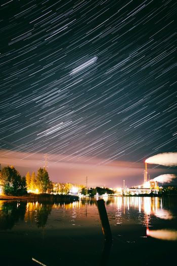 Night Star - Space Reflection Illuminated Sky Water Outdoors Astronomy Bridge - Man Made Structure River No People Scenics Milky Way Beauty In Nature Nature Constellation Nightlife Galaxy Architecture Cityscape