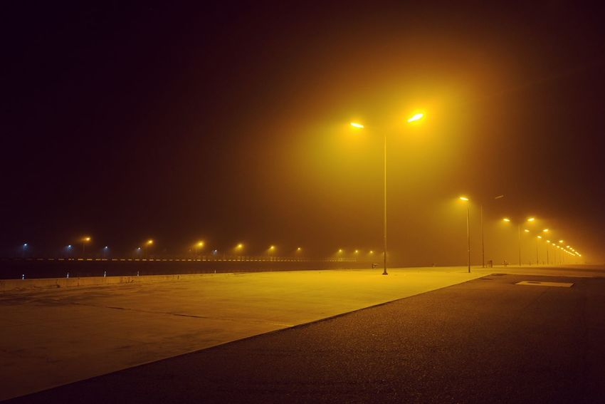 A foggy night in Ravenna Cityscape Dark Industrial Nightphotography Ravenna Fog Foggy Italy Landscape Night No People Outdoors Stranger Things