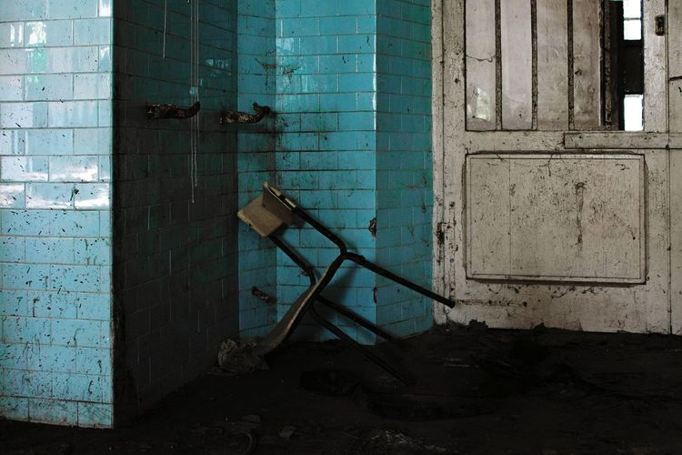 Old chair Mental Illness Mental Hospital  Abandoned Places Abandoned Buildings Dirty Doors Dirt Streetphotography Deterioration Rusty Bad Condition Worn Out Abandoned Decline Ruined
