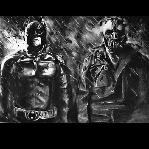 Just finished batman and bane Batman Bane TomHardy ChristianBale thedarkknight charcoal charcoaldrawing pencil pencildrawing art draw drawsomething picoftheday photooftheday bestoftheday