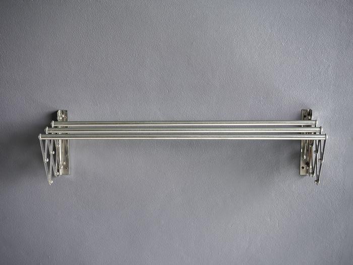 Close-up of padlock on door