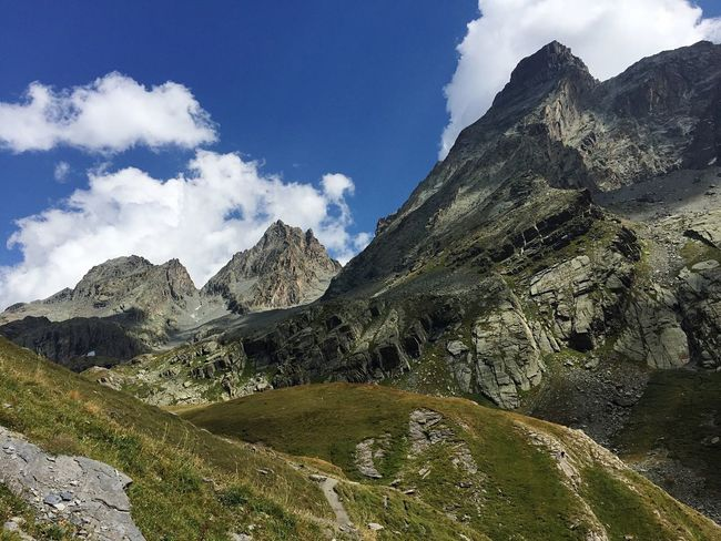 Italy Cuneo Valli Cuneesi Monviso Pontechianale Mountain View Relaxing Mountain Tranquil Scene Scenics Non-urban Scene Tranquility Landscape Mountain Range Sky Beauty In Nature Cloud Nature Majestic Solitude Remote Stream Mountain Peak Day Valley Outdoors Cloud - Sky