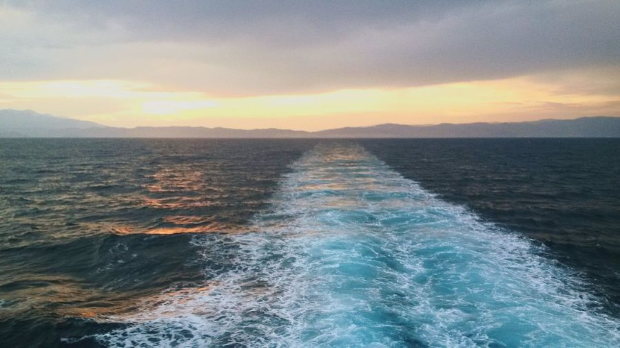 Thassos Sunset Beautiful Colors Relaxing Moments Summer Ferryboat
