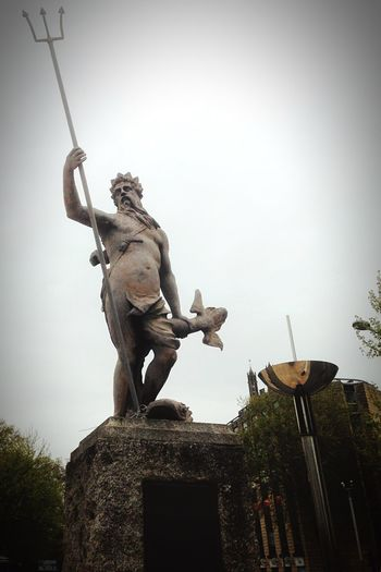 Bristol Statue Neptune Walking Around Taking Photos God Sea Poseidon