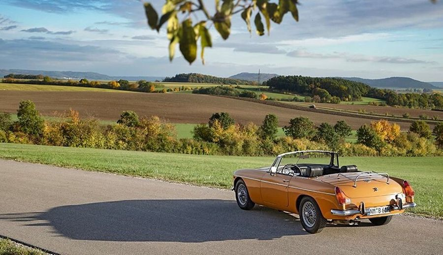 Car Travel Transportation Nature Vacations Outdoors Tree Day Sky Collector's Car No People MG Photos MG Cars Mg Sports Car Mg Vintage Sports Car Mgb Gt MGB Roadster Cabrio Oldtimer